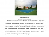 Convite para o uso do campo de ténis e de mini-golfe